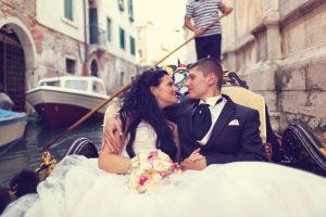 Wedding in a Gondola
